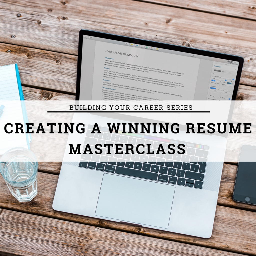 Creating a winning resume masterlcass logo elearning